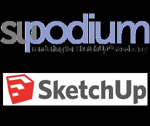 SketchUp Rendering su-podium
